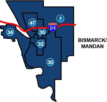 Bismarck Legislative Districts