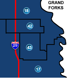 Grand Forks Legislative Districts