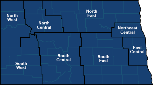 Map of North Dakota judicial districts