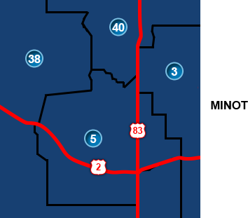 Minot Legislative Districts
